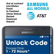 Premium Factory Unlock Code for Samsung Galaxy Note 7 5 SM-N920A locked to At&t