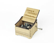Personalized Hand Crank Wooden Music Box (Simon&Garfunkel - El Condor Pasa)