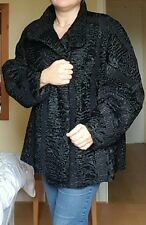 KARAKUL BROADTAIL JACKET  APPROX 18-20 GORGEOUS REAL FUR NOT FOX OR MINK