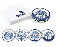 Rob Ryan Four Seasons blue and white plate set of 4 boxed wedding gift