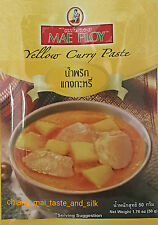 3 Packets Mae Ploy Yellow Curry Paste 50g. MSG Free