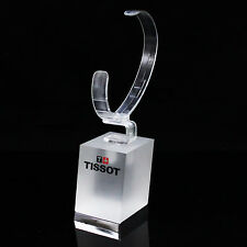 "Genuine Tissot Swiss Watch 2"" Frosted Glass Retail Store Dealer Display Stand"