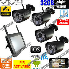 Home Surveillance Security Cameras System Wireless WIFI IP CCTV Video Farm Phone