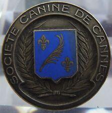 Médaille en bronze argenté - société canine de Cannes - Blason de Cannes -