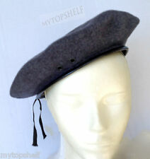 Gray Wool Classic Beret Surplus New  Military Tam IN 5 SIZES PICK YOUR SIZE