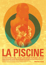 La piscine The swimming pool Alain Delon Romy Schneider movie poster 24x34