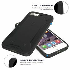 QuarterBack Dual Protective Shockproof Case Cover For Apple iPhone 7 Black