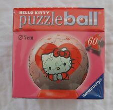 RAVENSBURGER HELLO KITTY VALENTINE HEART PUZZLE BALL 60 PIECES NEW! SEALED