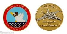 """NAVY NAVAL AIR STATION NAS PENSACOLA CRADLE OF AVIATION 1.75""""  CHALLENGE COIN"""