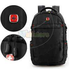 "SwissGear Men Women Travel Sports Backpack 17"" Laptop Outdoor Computer Bag Black"