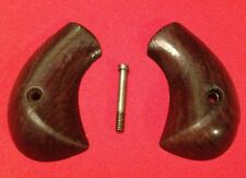 RARE FOREHAND AND WADSWORTH SIDE HAMMER 22 CALIBER REVOLVER WOOD GRIPS