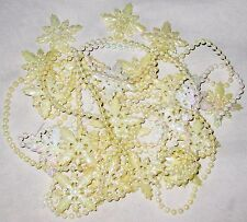 Pastel Yellows Beads Snowflakes Jewelry for Parts & Repairs