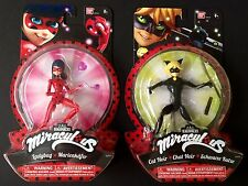 "Bandai Action Heroez Miraculous Ladybug and Cat Noir Action Figure Doll 5.5"" New"
