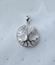 LOVELY TREE OF LIFE KNOWLEDGE PAGAN DOMED PENDANT 925 STERLING SILVER