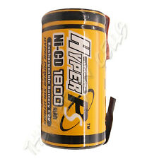 1 Sub C SubC 1.2V 1800mAh NiCd Rechargeable Battery with Tabs For RC Toy HyperPS