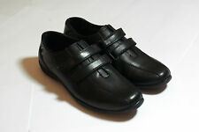 Black Leather Shoes Casual Comfort Flats Strap Detail BNIB Euro size 39 #108