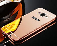 Luxury Aluminum Metal Bumper + PC Mirror Case Back Cover For Samsung Galaxy S001