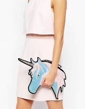 Celebrity Style Pop Unicorn Horse Pony Handbag Clutch Evening Shoulder Bag Purse