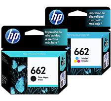 2 Pack - HP 662 Ink Cartridge Black + TRI-COLOR Original CZ104AL, CZ103A (Combo)