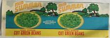 Mid Summer Cut Green Beans Vintage Can Label Greenville Canning Greenville, S.C.