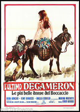 L'ULTIMO DECAMERON MANIFESTO CINEMA EROTICO FEMI BENUSSI 1971 MOVIE POSTER 2F
