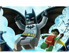 Lego Batman & Robin 48 Large Sticky White Paper Stickers Labels New