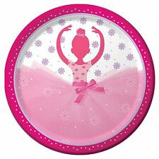 "8 TuTu Much Fun Ballerina Ballet Birthday Party Large 9""  Paper Plates"