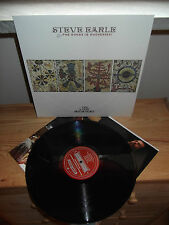 """STEVE EARLE & THE DUKES """"The Low Highway"""" LP NEW WEST USA 2013  - INNER"""