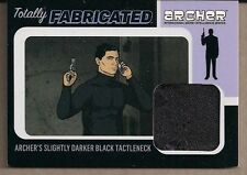 ARCHER SEASONS 1-4 TOTALLY FABRICATED DARK BLACK TACTLENECK WARDROBE CARD #TF-01