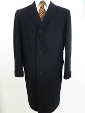 Vintage Luxurious 100% Pure Cashmere Solid Black Trench Top Over Coat Madein USA
