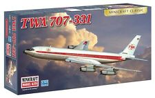 Minicraft 14651 TWA 707-331 Aircraft Airplane Plastic Model Kit 1/144 Scale
