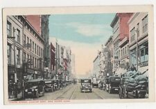 USA, Chapel Street Looking West, New Haven Conn. Postcard, B412