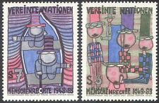 UN (V) 1983 Human Rights 35th/Art/Paintings/Abstract/Animation 2v set (n27793)