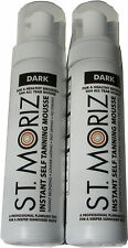 2 X 200ML BOTTLES ST MORIZ INSTANT SELF TANNING MOUSSE - DARK TAN  - FAST DRYING