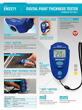 Digital LCD Thickness Gauge Car Painting Thickness Tester Paint Thickness Meter