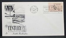 US World's Fair Artcraft Cachet Cover FDC Seattle Space Needle USA Brief (Y-306
