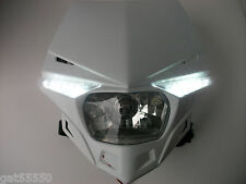 UFO ROAD LEGAL HEADLIGHT ENDURO STREETFIGHTER HONDA WHITE XR CR CRF XL XLR FMX