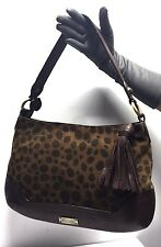 MOSCHINO Cheap And Chic Ladies Shoulder Handbag Brown Leather/Suede  Large