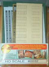 Bar Mills #0032 (HO Scale) Modular Structure - Kit (Laser-cut) -- The 1-Kit