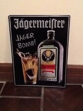 Jägermeister Jäger Bomb! Metal Sign Used Pre owned