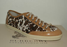 NIB BURBERRY WOMENS BOTREAUX CALF HAIR PONY SNEAKERS SHOES EU 40 US 10