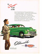 Vintage 1947 Magazine Ad Oldsmobile Is The Smartest Riding Habit Of The Year