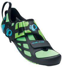 Pearl Izumi Tri Fly V Carbon Triathlon Cycling Shoes Green Flash - 44