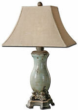 "Andelle Light Blue Crackled Ceramic Table Lamp 32""H by Uttermost 27395"