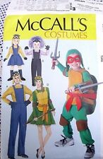 7214 McCALLS SEWING PATTERN~UNCUT~COSTUMES~BOYS & GIRLS SZ 3-8:TURTLE & MINION