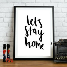 #45 A4 High Quality Art Print Inspirational Quote Poster Typography Home Love