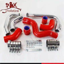 For 2002-2006 Audi A4 1.8T Turbo B6 Quattro Intercooler Piping pipe Kit Red