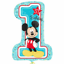 "28""  Disney Baby Mickey Mouse 1st Birthday Party Foil Number Supershape Balloon"