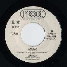 "John Kay (Steppenwolf) - Somebody / You Win Again 7"" JAPAN WHITE LABEL PROMO 45"