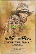 MISSOURI BREAKS MOVIE POSTER ADVANCE BOB PEAK ART MARLON BRANDO JACK NICHOLSON